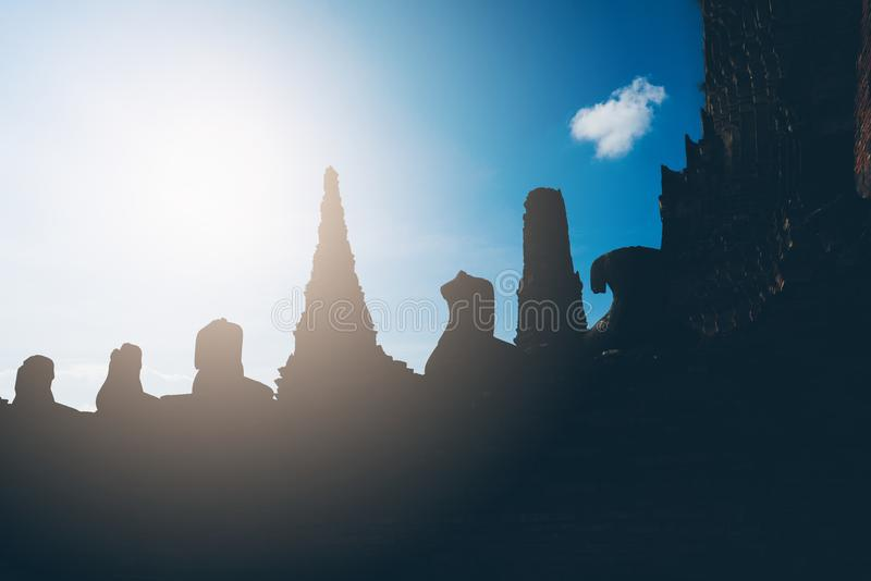 Anbetung von Thailand, Buddha-Statue, Geschichte von Thailand stockfotografie