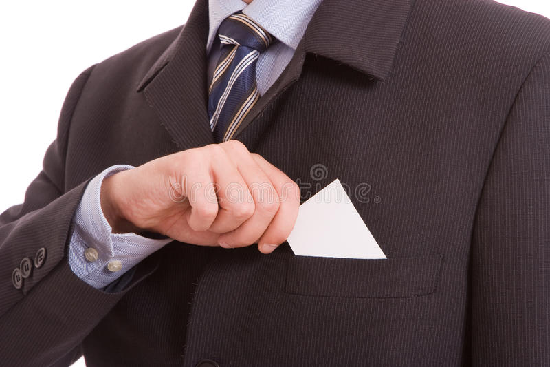 Anbietenkarte des Geschäftsmannes stockfotos