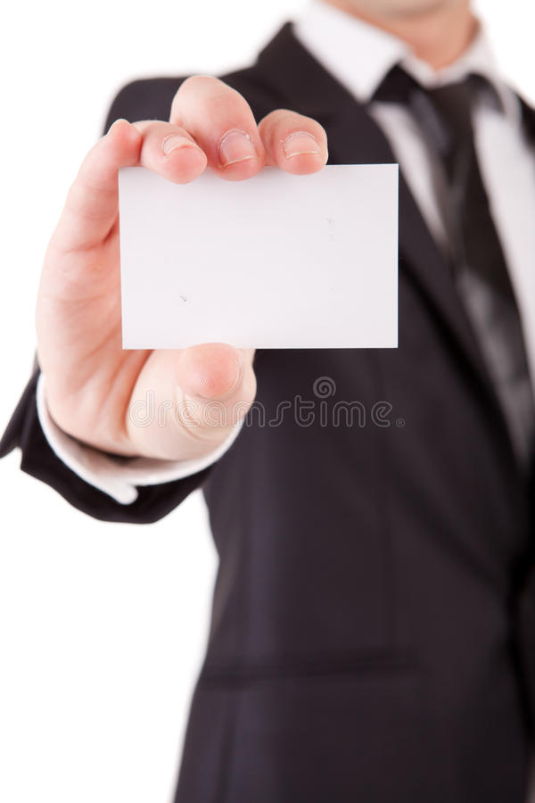 Anbietenkarte des Geschäftsmannes lizenzfreie stockfotografie