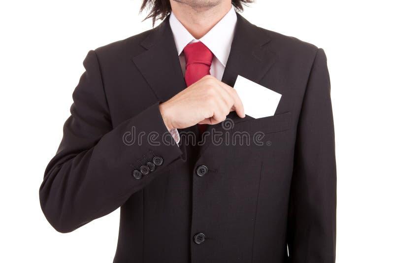 Anbietenkarte des Geschäftsmannes stockbilder