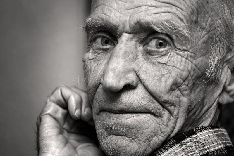 Anblick des alten Mannes stockbild