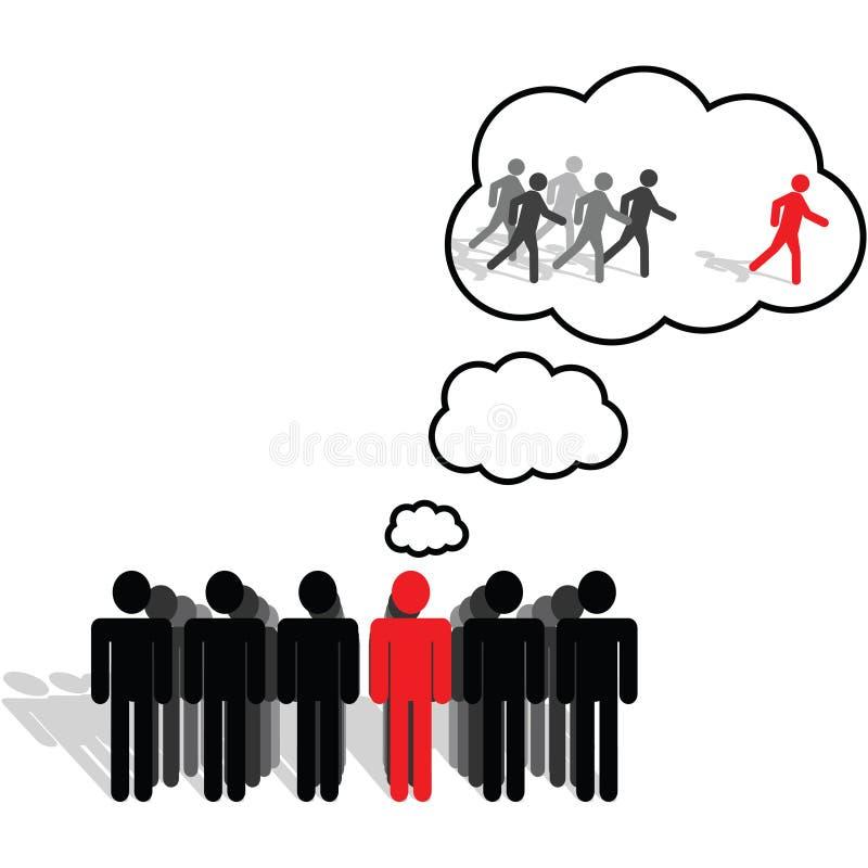 Anblick, Ideen und Denken stock abbildung