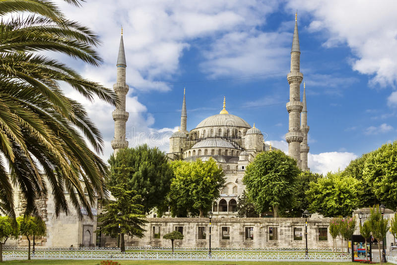 Anblick von der Türkei Blaue Moschee in Istanbul lizenzfreies stockbild