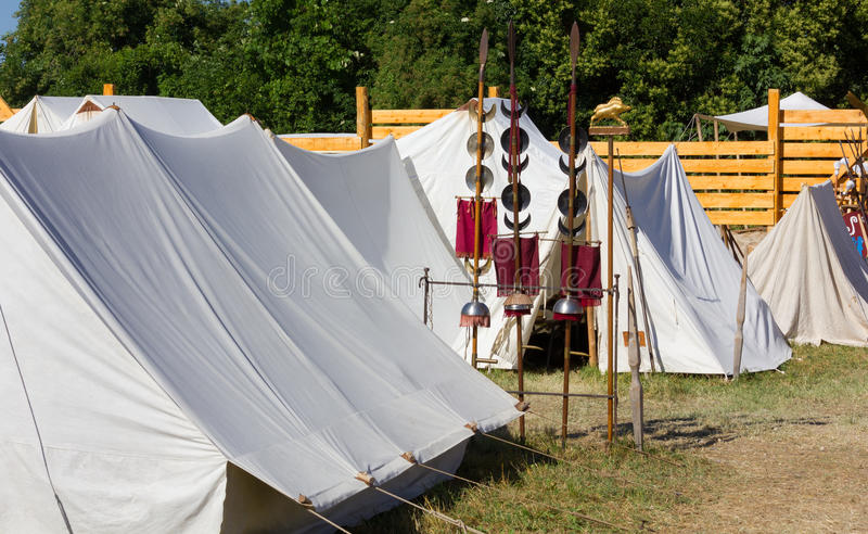 Ancent Roman Military Encampment photographie stock libre de droits