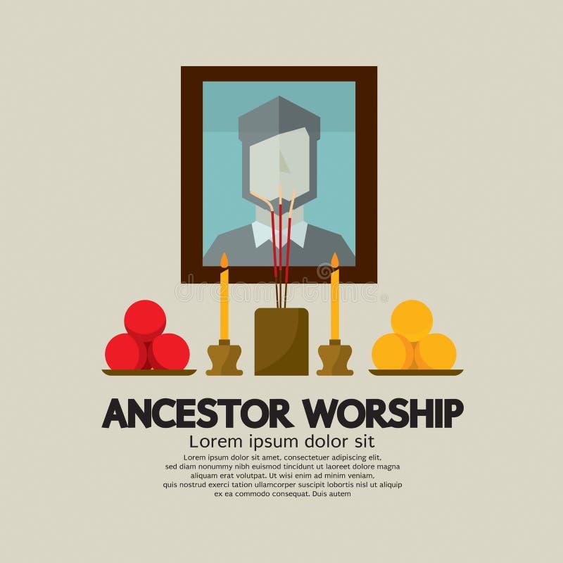 Ancestor Worship. Flat Design Ancestor Worship Vector Illustration vector illustration