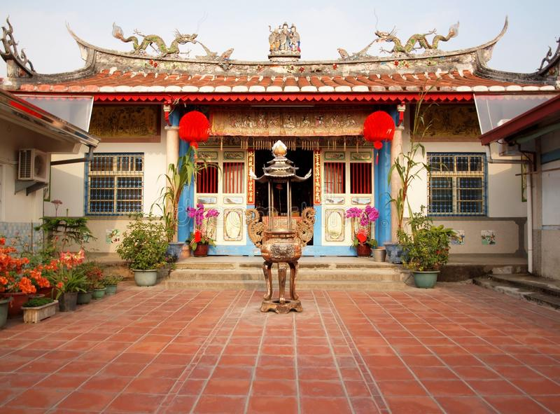 Ancestral Temple in Taiwan. This temple in Yujin township, Tainan County in southern Taiwan is devoted to ancestor worship royalty free stock images