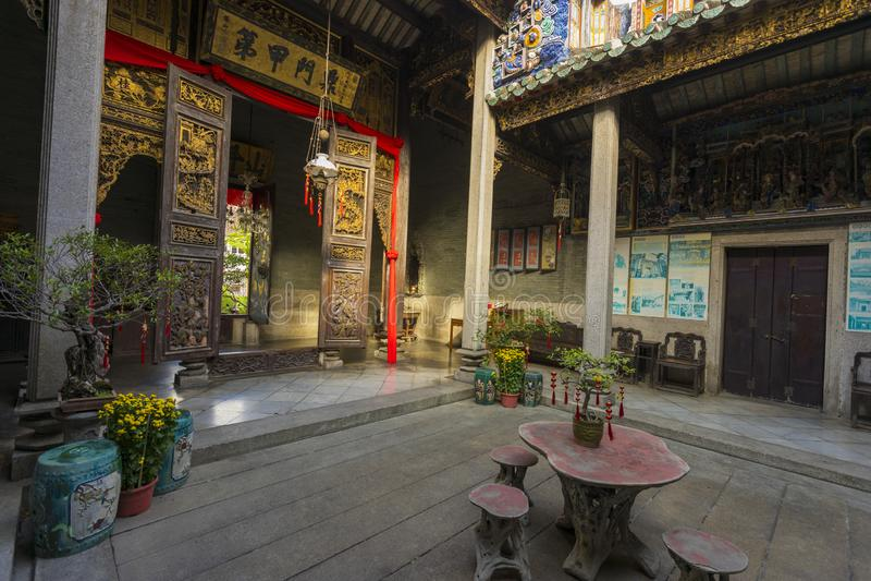 Ancestralna sala Pinang Peranakan dwór w Penang zdjęcie stock