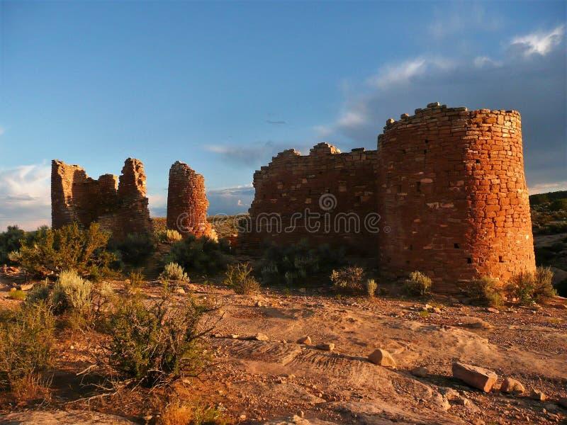 Ancestralne Puebloan struktury przy Hovenweep Krajowym zabytkiem zdjęcie royalty free