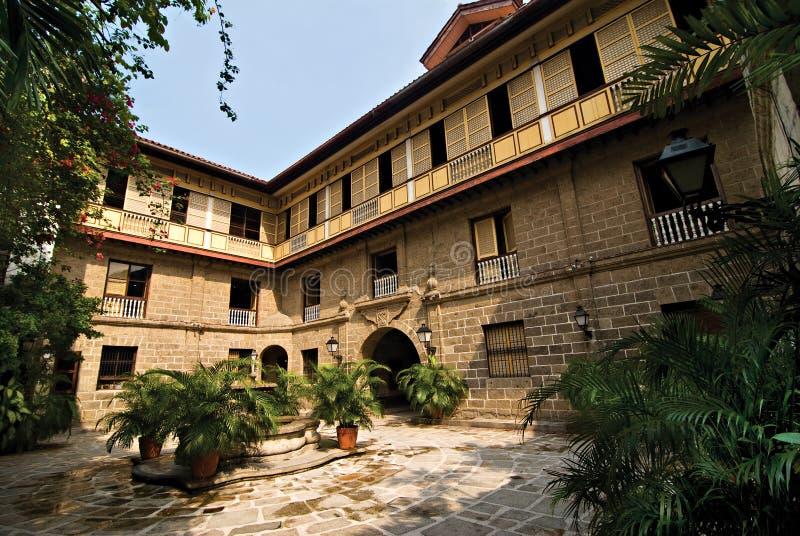 ancestralny podwórzowy filipińczyka domu dwór stary fotografia stock