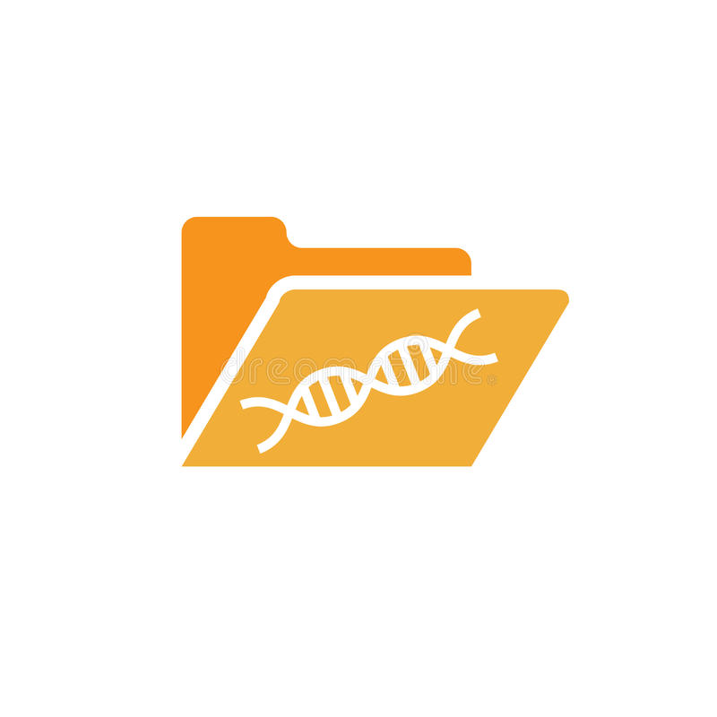 Ancestry or Genealogy Icon and DNA helix. Ancestry or Genealogy Icon DNA helix for medical records royalty free illustration