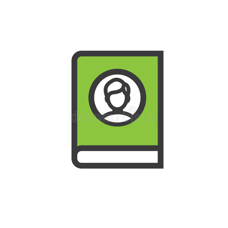 Ancestry or Genealogy Icon with Family Tree Album. Ancestry or Genealogy Icon Set with Family Tree Album, family record, etc royalty free illustration