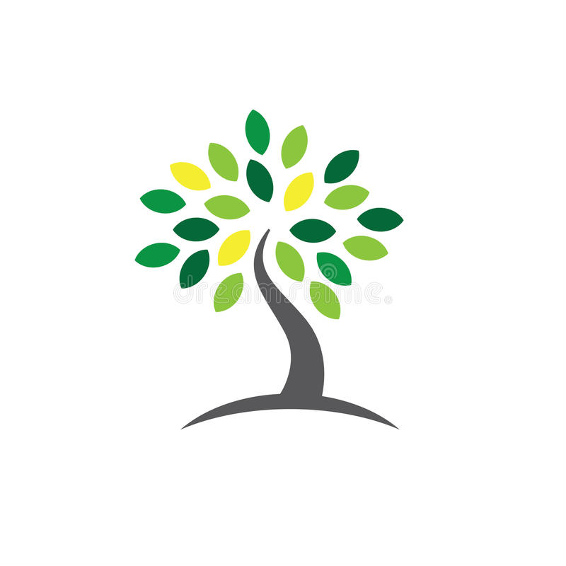 Ancestry or Genealogy Icon with Family Tree. Ancestry / Genealogy Icon w Family Tree stock illustration
