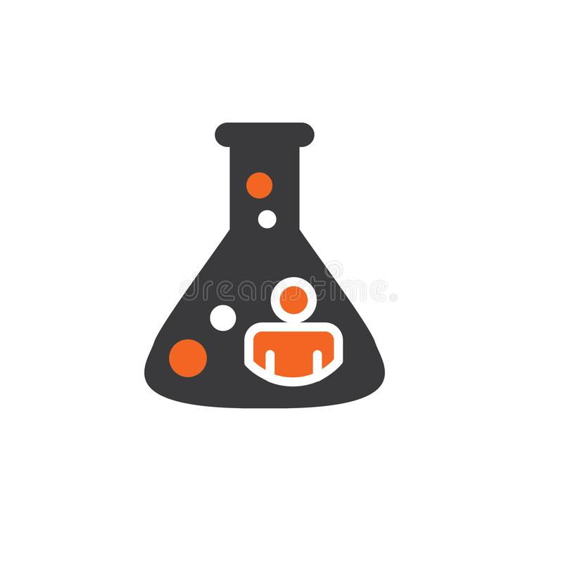 Ancestry or Genealogy Icon Set with beaker. Ancestry or Genealogy Icon DNA helix for medical records vector illustration