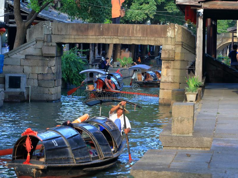 AnChang antyczny miasteczko Jiangnan kochliwi uczucia zdjęcie stock