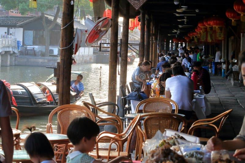 AnChang antyczny miasteczko Jiangnan kochliwi uczucia obrazy royalty free