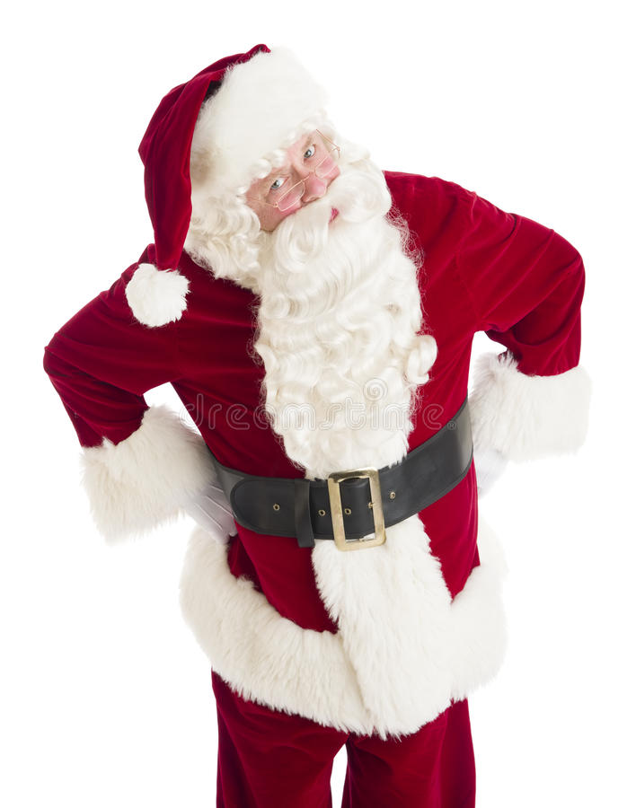 Anche arrabbiate di Santa Claus Standing With Hands On fotografia stock