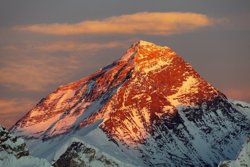 Anche colori dell'Everest fotografie stock libere da diritti