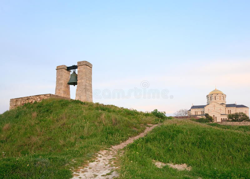 Anche il segnalatore acustico antico di Chersonesos immagine stock
