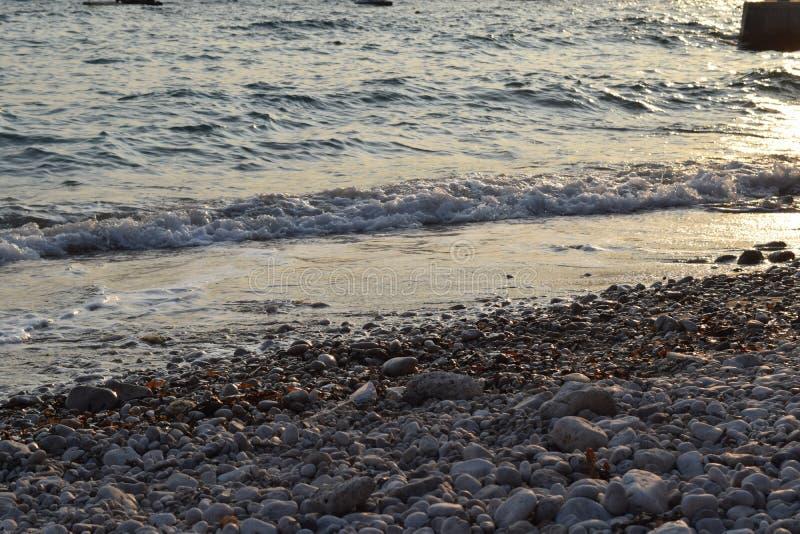 Anche ondeggia sulla spiaggia fotografia stock