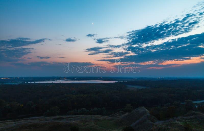 Anche sopra il fiume Kuban immagine stock