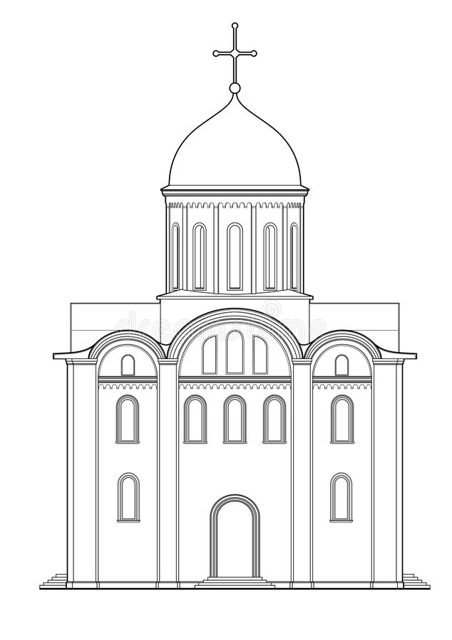 anchient kościół royalty ilustracja