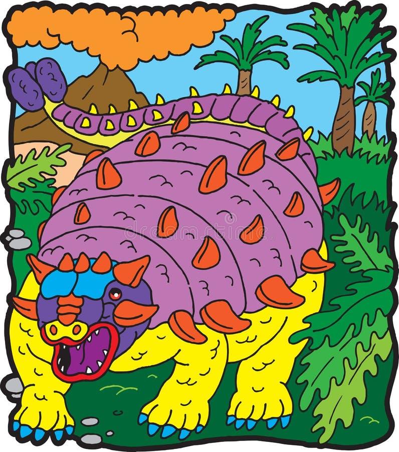 Anchilosauro de dinosaur illustration libre de droits