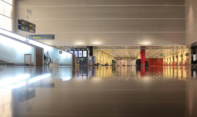 Ancho interior terminal de Barcelona imagenes de archivo