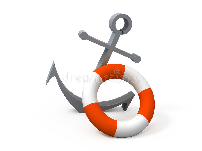 Download Anchor stock illustration. Illustration of rescuer, anchor - 13996044