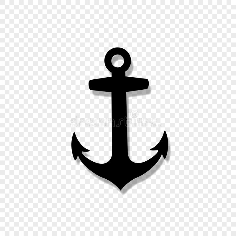 Anchor armature icon isolated on transparent background. Vector black silhouette illustration of anchor armature icon isolated on transparent background vector illustration