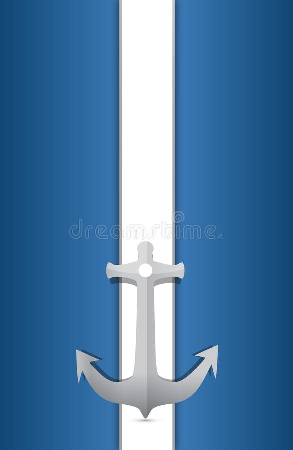 Download Anchor And Blue And White Background Stock Illustration - Image: 27310623