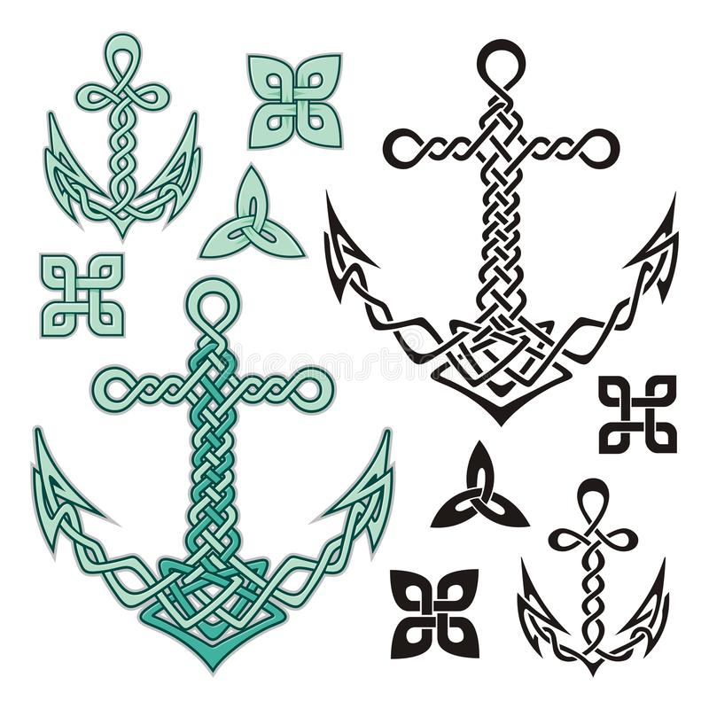 Anchor Celtic Royalty Free Stock Photo
