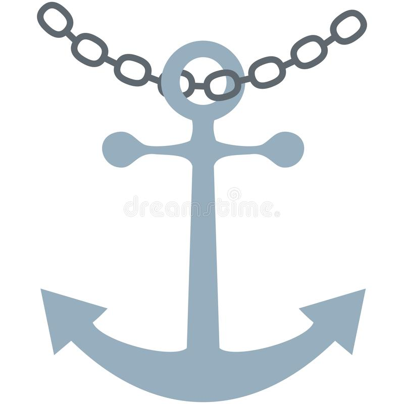 Anchor and chain vector illustration