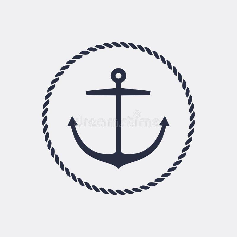 Anchor emblem stock image