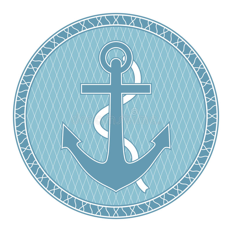 Download Anchor stock vector. Image of design, blue, fashion, sailing - 34120235