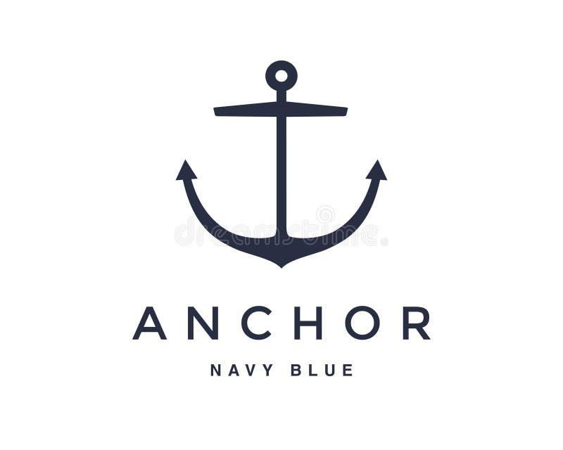 Anchor emblem design stock photo