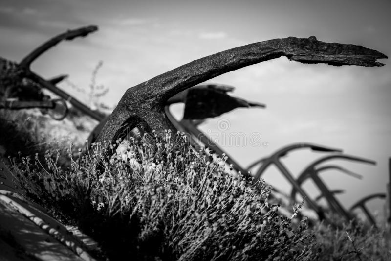 Anchor graveyard stock foto's