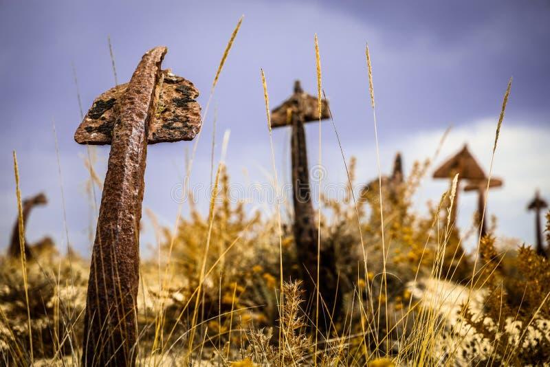Anchor graveyard Algarve Portugal royalty-vrije stock foto