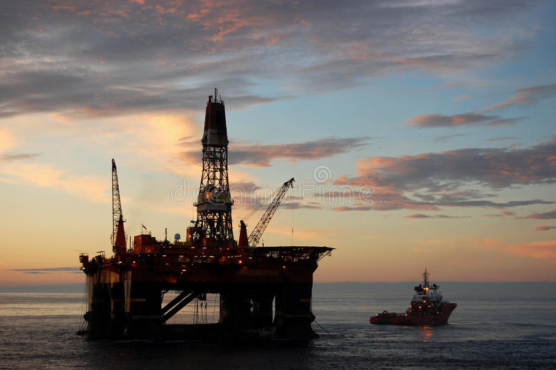 Download Anchor Handling Of Semi Submergible In North Sea Stock Image - Image: 11024189