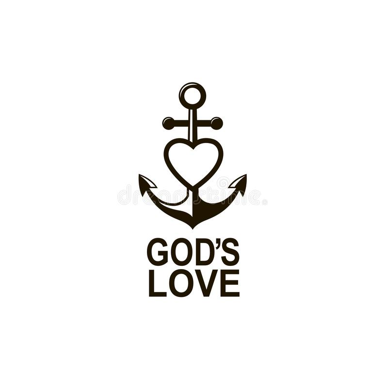 Anchor and heart royalty free illustration