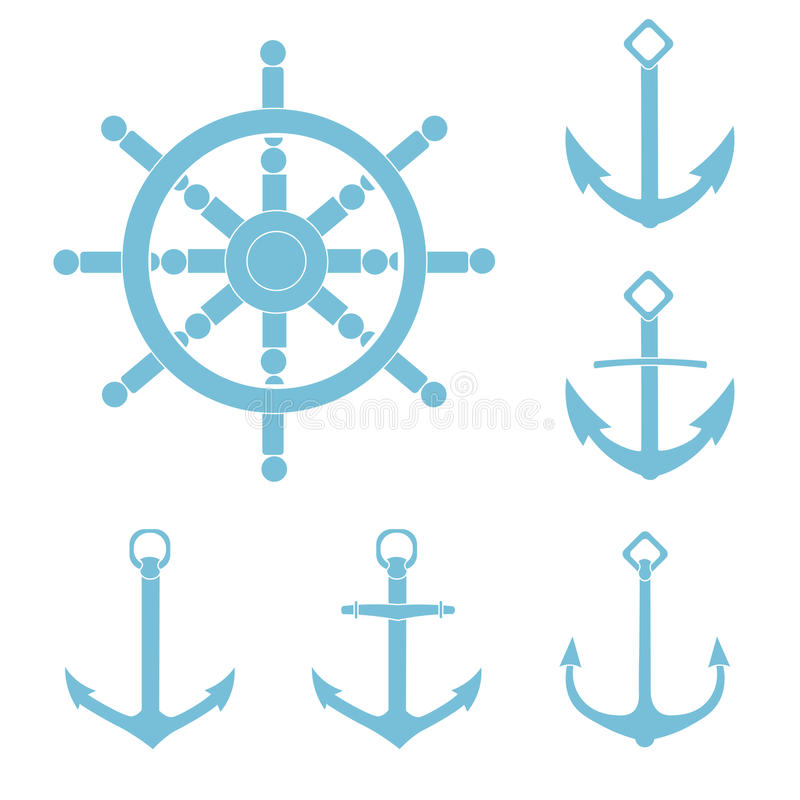 Anchor helm isolated background stock photo