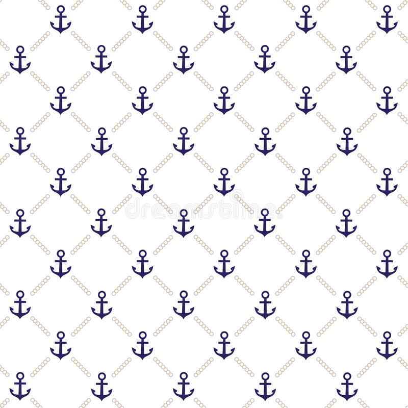 Anchor pattern stock illustration