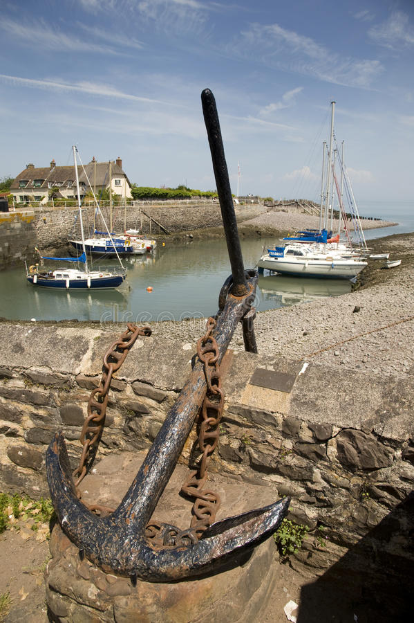 Download Anchor At Porlock Weir, England Editorial Image - Image: 32309550