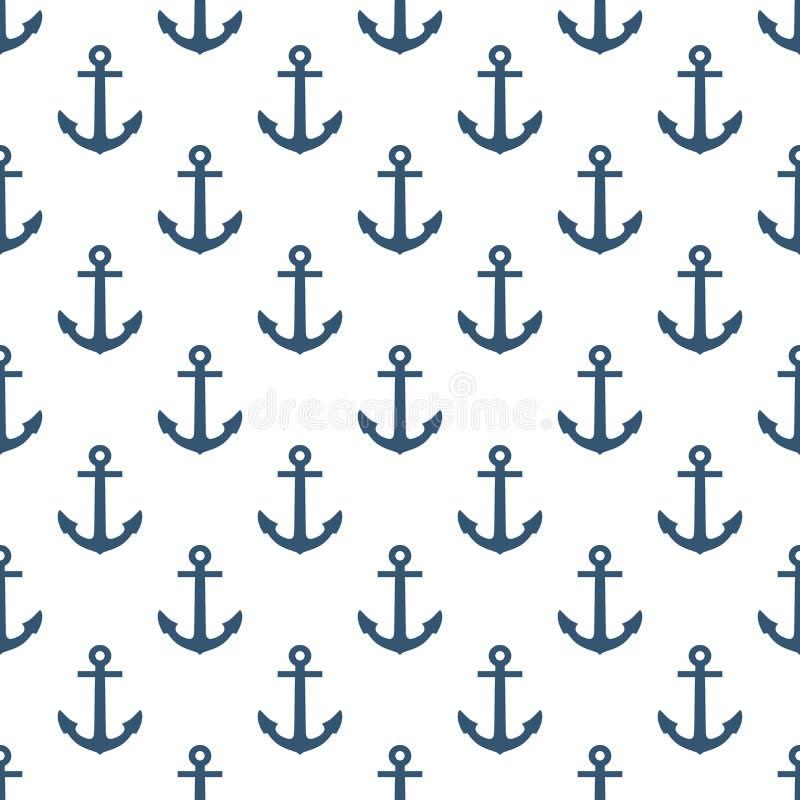 Anchor seamless pattern. royalty free illustration