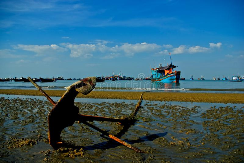 Download Anchor and ship stock photo. Image of vietnam, anchor - 19312840