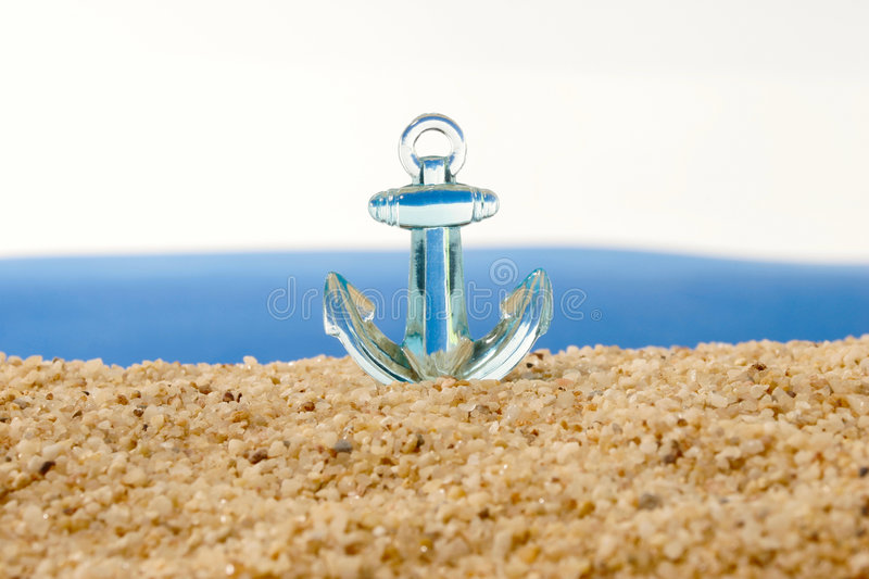 Anchor before a turbulent sea royalty free stock photo