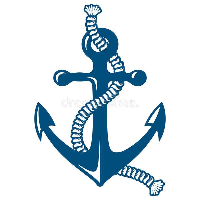 Free Anchor With Rope Royalty Free Stock Images - 41874189