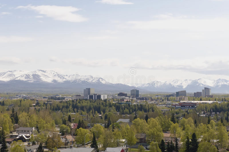 Anchorage city stock photography