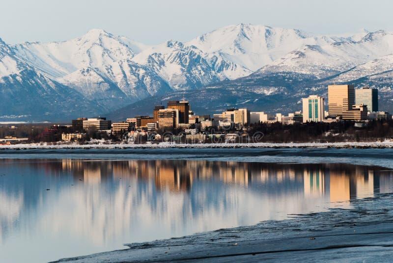Cidade de Anchorage fotografia de stock royalty free