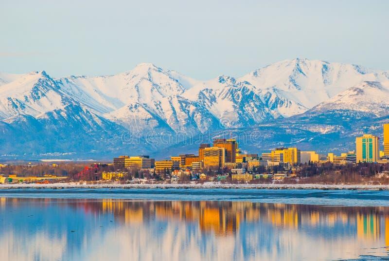 Ville d'Anchorage photos stock