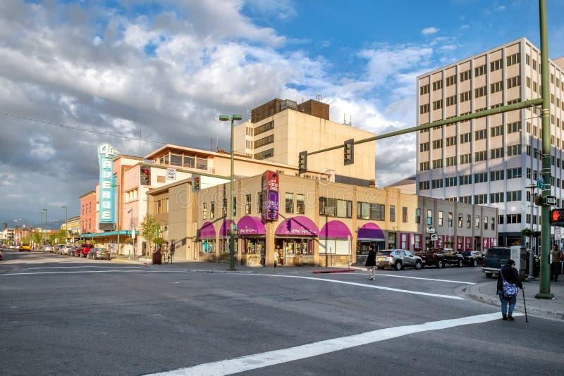 Anchorage du centre-ville images libres de droits